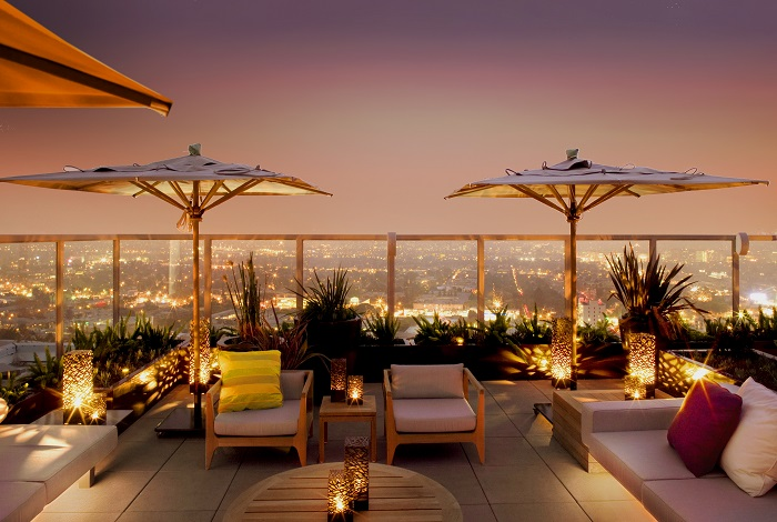Rooftop-at-Andaz-West-Hollywood-night